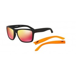 Matte Black/red Multilayer + Orange Temples (447/6Q)