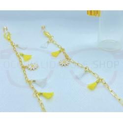GOLD metal eyeglass chain