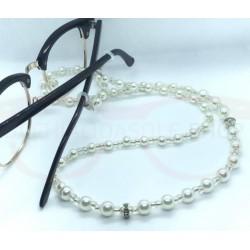 WHITE PERL eyeglass chain