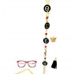 QUEEN GOLD metal eyeglass...