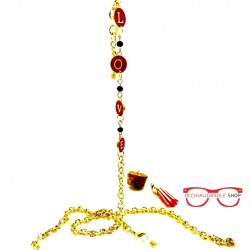 LOVE GOLD metal eyeglass chain