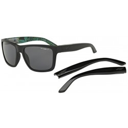 Black/grey + Shiny Black Temples (2229/81) POLARIZED