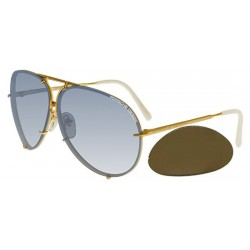 Gold/light Blue Shaded + Brown Lenses (W Z)