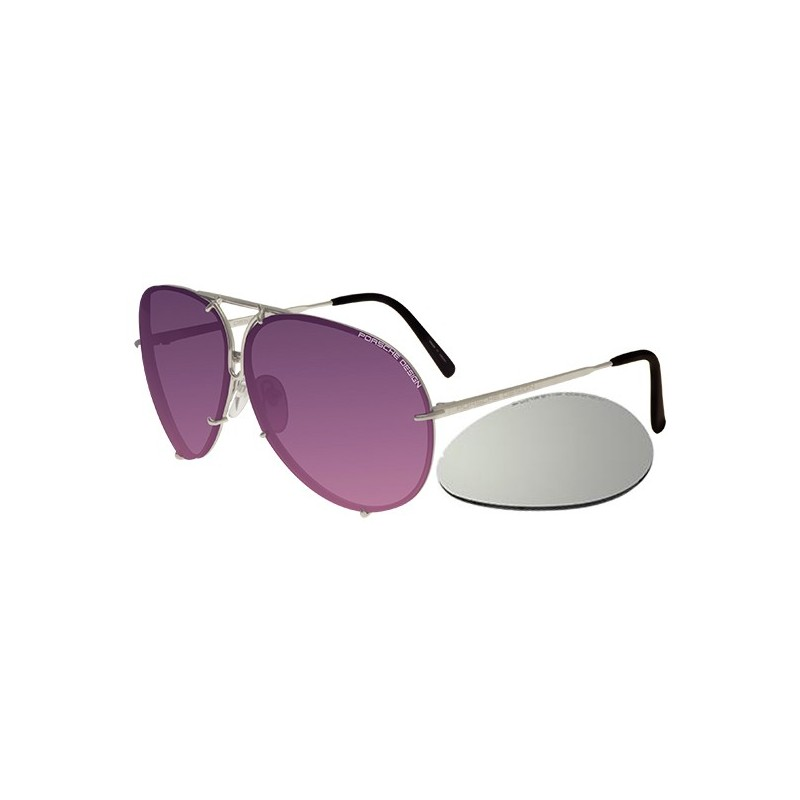 Silver/violet Shaded Pink + Silver Mirror Lenses (M)