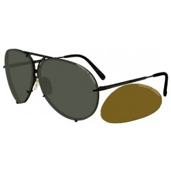 Dark Grey/green + Brown Orange Semi-mirror Lenses (C)