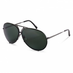 Dark Grey/green + Brown Orange Semi-mirror Lenses (C)