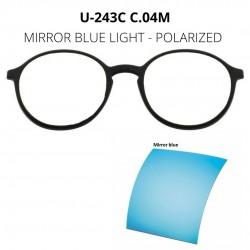 CLIP U-243 C04M MIRROR BLUE...
