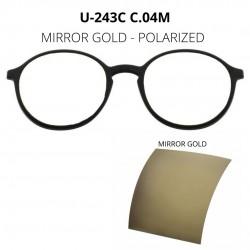 CLIP U-243 C04M MIRROR GOLD...