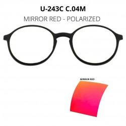 CLIP U-243 C04M MIRROR RED...