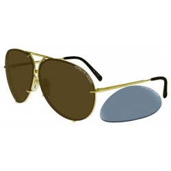 Light Gold/brown + Light Blue Silver Semi-mirror Lenses